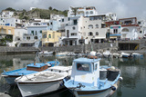 Fishing Boats at Borgo Sant' Angelo, Ischia, Campania, Italy, Europe Fotografisk tryk af Oliviero Olivieri