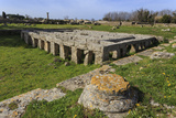 Gymnasium with Swimming Pool, Paestum, Ancient Greek Archaeological Site, Campania, Italy Photographic Print by Eleanor Scriven