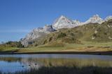 Lai Da Vons, Small Lake in the Alps, Graubunden, Swiss Alps, Switzerland, Europe Fotografisk tryk af Angelo Cavalli