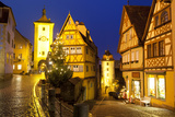 Christmas Tree at the Plonlein, Rothenburg Ob Der Tauber, Bavaria, Germany, Europe Photographic Print by Miles Ertman