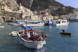 Fisherman in Fishing Boat in Amalfi Harbour Photographic Print by Eleanor Scriven