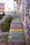 Peter Groenendijk - Colourful Street, Valparaiso, Chile - Fotografik Baskı