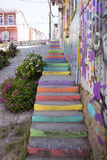 Colourful Street, Valparaiso, Chile Photographic Print by Peter Groenendijk