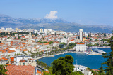 Elevated View over Split's Picturesque Stari Grad and Harbour, Split, Dalmatia, Croatia, Europe Photographic Print by Doug Pearson