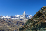 Overview of the Matterhorn,. Zermatt, Canton of Valais, Pennine Alps, Swiss Alps, Switzerland Photographic Print by Roberto Moiola
