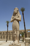 Statue of Ramses Ii with His Daughter Benta-Anta Photographic Print by Richard Maschmeyer