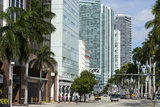 Modern Buildings Along Biscayne Boulevard, Downtown Miami, Miami, Florida, Usa Photographic Print by Sergio Pitamitz