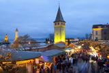 Christmas Market Along Lindau's Historic Port, Lindau Im Bodensee, Germany, Europe Photographic Print by Miles Ertman