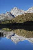 Lai Da Vons, Small Lake in the Alps, Graubunden, Swiss Alps, Switzerland, Europe Photographic Print by Angelo Cavalli