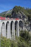 Landwasser Viadukt, Filisur, Graubunden, Swiss Alps, Switzerland, Europe Photographic Print by Angelo Cavalli