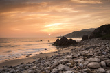 Sunset on Will Rogers Beach, Pacific Palisades, California, United States of America, North America Photographic Print by Mark Chivers