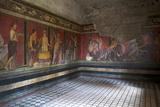 Triclinium Frescoes, Villa Dei Misteri, Pompeii, Campania, Italy Fotografisk tryk af Oliviero Olivieri