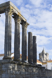 The Roman Temple of Diana and the Tower of Evora Cathedral Photographic Print by Alex Robinson