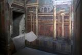 Geometric Frescoes of the Cubicola in the Villa Dei Misteri, Pompeii, Campania, Italy Fotografisk tryk af Oliviero Olivieri