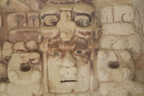 Stone Mask of Mayan Sun God Kinichna Photographic Print by Richard Maschmeyer