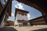 View of the Interior Courtyard at the Taktsang Monastery Photographic Print by Roberto Moiola