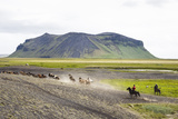 Wild Horses Running, South Iceland, Iceland, Polar Regions Photographic Print by Yadid Levy