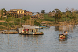 River Family Living on the Tonle Sap River in Kampong Chhnang, Cambodia, Indochina Photographic Print by Michael Nolan
