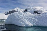 Glacial Iceberg Detail at Cuverville Island, Antarctica, Polar Regions Photographic Print by Michael Nolan