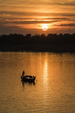 Sunrise on the Tonle Sap River Near the Village of Kampong Tralach, Cambodia, Indochina Photographic Print by Michael Nolan