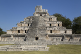 Structure of Five Floors (Pisos), Edzna, Mayan Archaeological Site, Campeche, Mexico, North America Photographic Print by Richard Maschmeyer