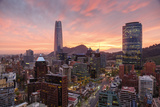 Skyline of Santiago with the Gran Torre, Santiago, Chile, South America Photographic Print by Yadid Levy
