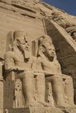 Colossi of Ramses Ii, Sun Temple, Abu Simbel, Egypt, North Africa, Africa Fotografisk tryk af Richard Maschmeyer