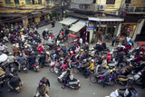 Busy Traffic in the Old Quarter, Hanoi, Vietnam, Indochina, Southeast Asia, Asia Photographic Print by Yadid Levy