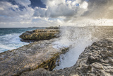 A Wave Created by the Strong Wind over Devils Bridge, Antigua, Leeward Islands, West Indies Photographic Print by Roberto Moiola