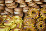 Sesame Round Bread in the Old City, Jerusalem, Israel, Middle East Photographic Print by Yadid Levy