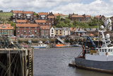 Endeavour Wharf with Lobster Pots and Boats in Upper Harbour Photographic Print by Eleanor Scriven