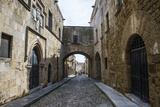 The Cobblestoned Street of the Knights Photographic Print by Michael Runkel