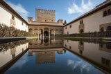 Court of the Myrtles, Alhambra, Granada, Province of Granada, Andalusia, Spain Photographic Print by Michael Snell