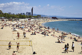 Barcelona Beach, Barcelona, Catalonia, Spain Photographic Print by Mark Mawson