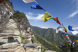 The Colorful Tibetan Prayer Flags Invite the Faithful to Visit the Taktsang Monastery, Paro, Bhutan Photographic Print by Roberto Moiola