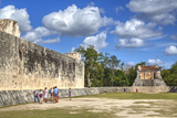 Tourists with Guide, the Grand Ball Courrt (Gran Juego De Pelota), Chichen Itza Photographic Print by Richard Maschmeyer