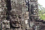 Buddha Face Carved in Stone at the Bayon Temple, Angkor Thom, Angkor, Cambodia Photographic Print by Yadid Levy
