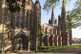 Lichfield Cathedral, West Spires and North Front, Lichfield, Staffordshire, England, United Kingdom Photographic Print by Nick Servian