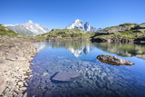 The Mont Blanc Mountain Range Reflected in the Waters of Lac Des Cheserys Photographic Print by Roberto Moiola