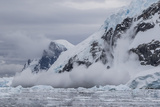 Falling Avalanche of Snow and Ice in Neko Harbor, Antarctica, Polar Regions Photographic Print by Michael Nolan