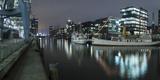 Twilight at Magellan-Terrace in Hafencity, Hamburg, Germany, Europe Fotografisk tryk af Ben Pipe