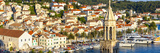 Elevated View over the Picturesque Harbour Town of Hvar, Hvar, Dalmatia, Croatia, Europe Photographic Print by Doug Pearson