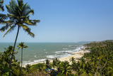 View over Vagator Beach, Goa, India, Asia Photographic Print by Yadid Levy