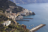 View of Amalfi, from Pastena, Costiera Amalfitana (Amalfi Coast), Campania, Italy Photographic Print by Eleanor Scriven