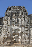 Chac Rain God Masks, Nuns Quadrangle, Uxmal Photographic Print by Richard Maschmeyer