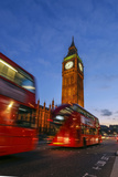 Typical Double Decker Bus and Big Ben, Westminster, London, England, United Kingdom, Europe Photographic Print by Roberto Moiola