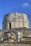 Templo Redondo (Round Temple), Mayapan, Mayan Archaeological Site, Yucatan, Mexico, North America Photographic Print by Richard Maschmeyer