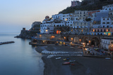 Blue Hour, Dusk in Atrani, Near Amalfi, Costiera Amalfitana (Amalfi Coast), Campania, Italy Photographic Print by Eleanor Scriven