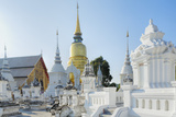 Chedis (Stupas) at the Temple of Wat Suan Dok, Chiang Mai, Thailand, Southeast Asia, Asia Photographic Print by Alex Robinson