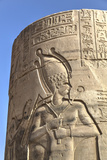 Bas-Relief on Pillar, Forecourt, Temple of Haroeris and Sobek Photographic Print by Richard Maschmeyer
